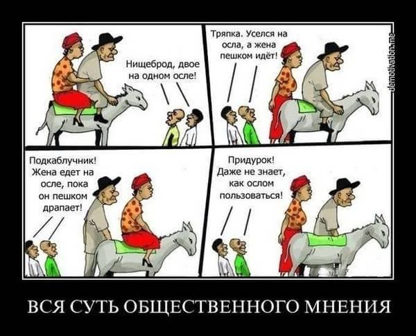 пара с ослом, общественное мнение, игнорировать мнение других, как стать свободным от чужого мнения, социальные установки, суть общественного мнения, двое на осле
