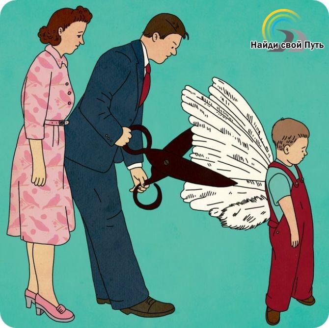 родители обрезали крылья, в детстве меня сломали, родители убили мечту, поломали ребенка, сломили детскую волю